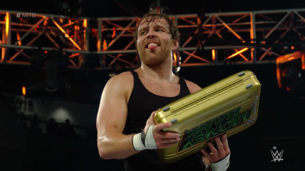 WWE - Dean Ambrose Wins Money in the Bank, Smirks!