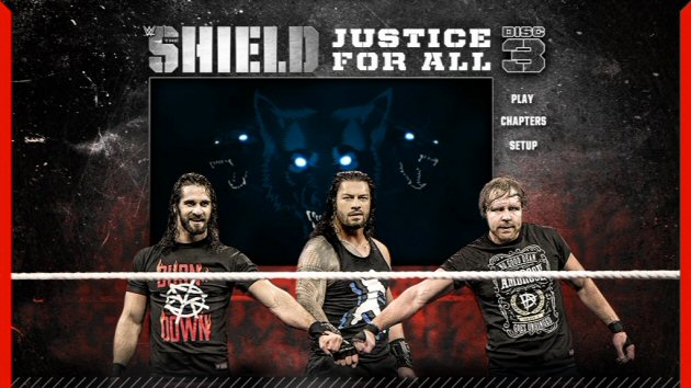 WWE 'The Shield: Justice for All' DVD - Main Menu Selection