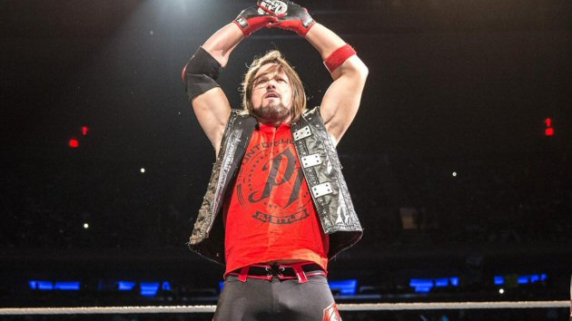 WWE - AJ Styles Enters the Ring in Red Attire, 2018